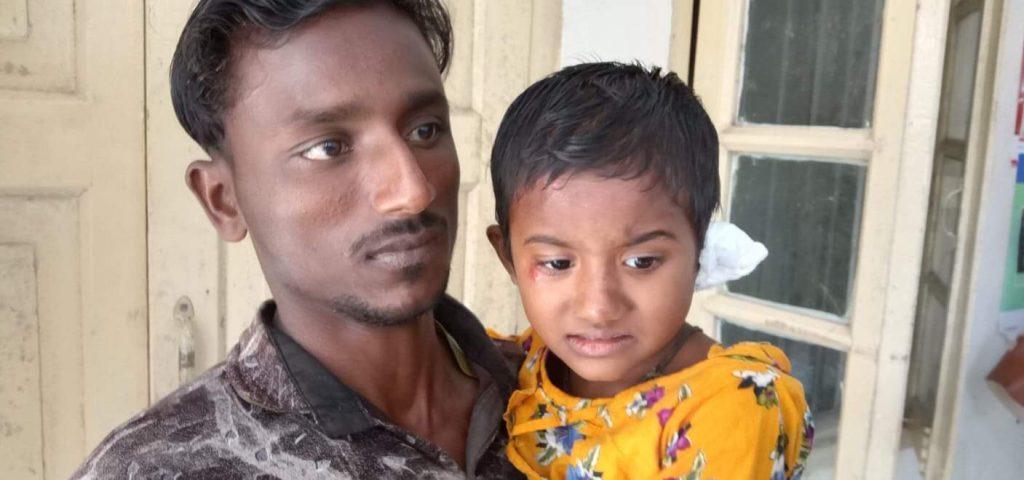 আখাউড়ায় সড়ক দূর্ঘটনায় স্কুল ছাত্রী আহত