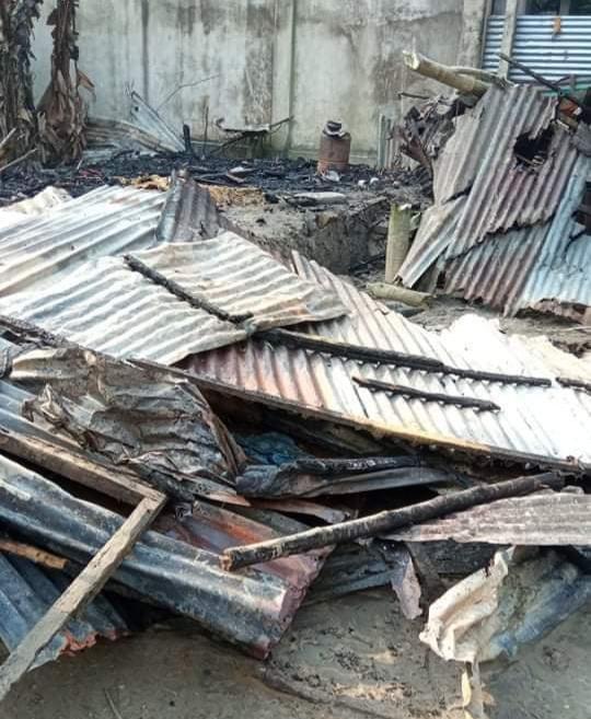 নাসিরনগরে অগ্নিকান্ডে একটি ঘর পুড়ে ভষ্মীভূত